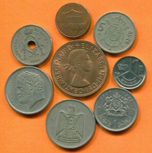 COLLECTION WORLD COINS MIXED LOT DIFFERENT COUNTRIES AND REGIONS L10399.1.C