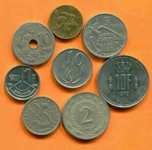 COLLECTION WORLD COINS MIXED LOT DIFFERENT COUNTRIES AND REGIONS L10400.1.C