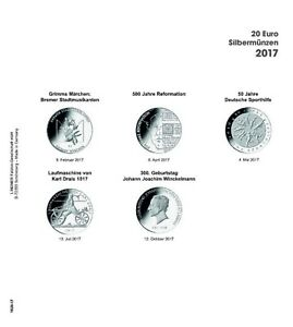 LINDNER 1520 17 COIN SHEETS K2   PRINTED PAGE GERMANY 2017