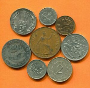 COLLECTION WORLD COINS MIXED LOT DIFFERENT COUNTRIES AND REGIONS L10409.1.C