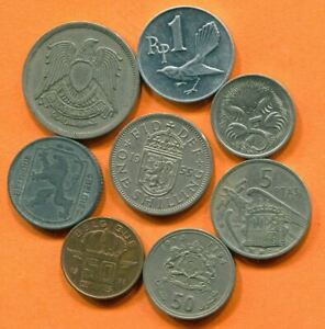 COLLECTION WORLD COINS MIXED LOT DIFFERENT COUNTRIES AND REGIONS L10411.1.C