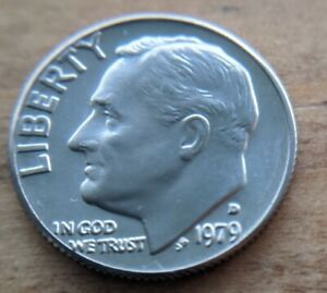 1979 D UNCIRCULATED ROOSEVELT DIME COIN COLLECTABLE  10 CENT