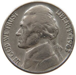 UNITED STATES NICKEL 1963 D A61 549