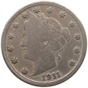 UNITED STATES NICKEL 1911 A61 565