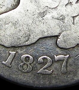 1827 DOT IN 8 ERROR ? CAPPED BUST DIME SILVER      TYPE COIN      L923