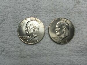 1974 P & D EISENHOWER DOLLAR  TWO COIN UNCIRCULATED SET