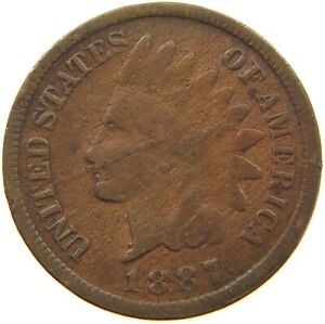 UNITED STATES CENT 1887 INDIAN HEAD A63 195