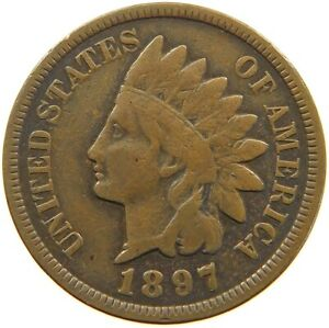 UNITED STATES CENT 1897 INDIAN HEAD A63 251