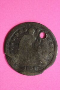 1856 P SEATED LIBERTY HALF DIME EXACT COIN SHOWN FLAT RATE SHIPPING OCE 18