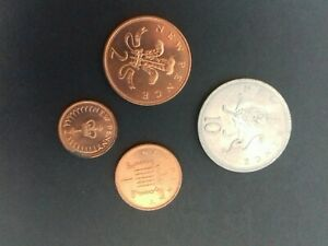STUNNING 1971  TEN/ TWO/ ONE/ HALF PENCE COINS SEE PHOTOS