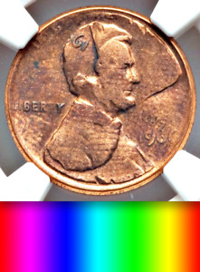 Click now to see the BUY IT NOW Price! 1966 NGC DIE ADJUSTMENT STRIKE DOUBLE STRUCK SPECTACULAR  UNIQUE LINCOLN CENT 1C