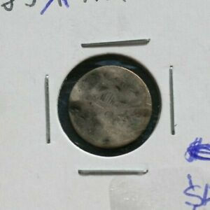 183X SEATED LIBERTY HALF DIME   POOR DETAILS