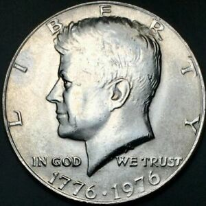 1776 1976 D JOHN F KENNEDY HALF DOLLAR US CURRENCY JFK 50 CENTS COLLECTIBLE