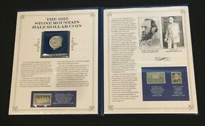 BEAUTIFUL 1925 STONE MOUNTAIN HALF DOLLAR COIN AND STAMP COLLECTION [SBS4]