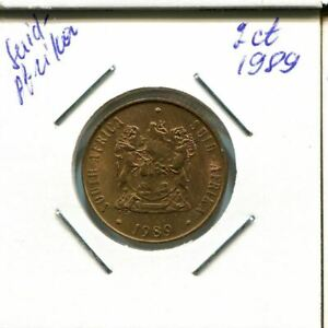 2 CENTS 1989 SOUTH AFRICA COIN AN712.U