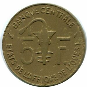 5 FRANCS 1987 WESTERN AFRICAN STATES COIN AP955.U