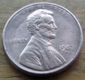 1987 D WEAK DIE BUBBLY ERROR LINCOLN CENT COLLECTABLE COIN  PENNY