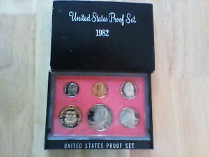 1982 UNITED STATES PROOF SET 5 COIN COLLECTION   US MINT OGP