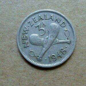 NEW ZEALAND COIN  3 PENCE 1948