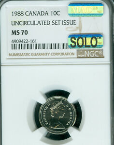Click now to see the BUY IT NOW Price! 1988 CANADA 10 CENTS NGC MS 70 MAC SOLO FINEST & SPOTLESS   ..