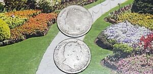 2  SILVER 10 CENT COINS FROM NETHERLANDS1898 & 188?