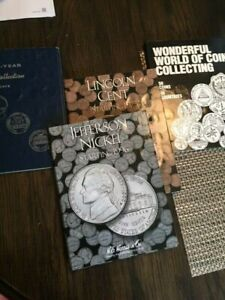 4  COIN SETS PRICED TO SELL  LINCOLNS JEFFS AND A FOREIGN WORLD COIN SET