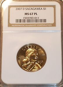 Click now to see the BUY IT NOW Price! 2007 D SACAGAWEA $ NGC MS67 PL TOP POP REGISTRY COIN