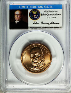 Click now to see the BUY IT NOW Price! 2008 JOHN QUINCY ADAMS PCGS SP67 MISSING EDGE LETTERING MINT ERROR DOLLAR