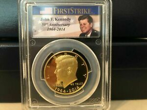Click now to see the BUY IT NOW Price! 2014 W GOLD KENNEDY HALF 50 ANNIVERSARY PCGS PROOF 70 CHICAGO ANA RELEASE BOX