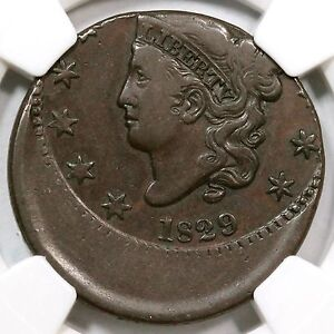Click now to see the BUY IT NOW Price! 1829 N 5 NGC VF 35 20  OFF CENTER MATRON HEAD LARGE CENT COIN 1C EX; HOLMES