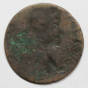 1788 M15.1 R8 FULL BROCKAGE DOUBLE STRUCK CONNECTICUT COLONIAL COPPER CENT COIN