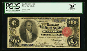 Click now to see the BUY IT NOW Price! FR. 344 1891 $100 ONE HUNDRED DOLLARS SILVER CERTIFICATE PCGS FINE 25