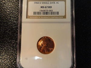 Click now to see the BUY IT NOW Price! 1960 D LINCOLN CENT  NGC MS 67 RD WITH SMALL DATE