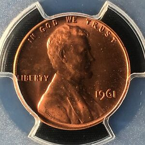 Click now to see the BUY IT NOW Price! 1961 1C RD LINCOLN MEMORIAL ONE CENT  PCGS MS67RD        83564459C