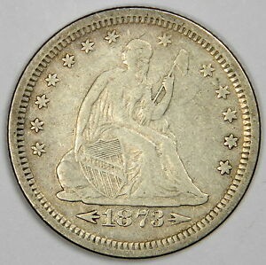 1873 S SEATED QUARTER   NICE VF WITH NICE AND ORIGINAL COLOR   PRICED RIGHT