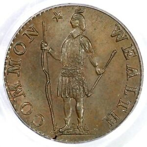 Click now to see the BUY IT NOW Price! 1788 MASSACHUSETTS PCGS MS64  BN COLONIAL COPPER HALF CENT 1/2C