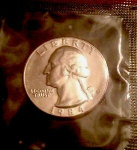 1984 D WASHINGTON QUARTER  BU FROM US MINT   10