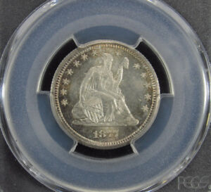 Click now to see the BUY IT NOW Price! 1877 CC SEATED LIBERTY QUARTER PCGS MS65  195  TI