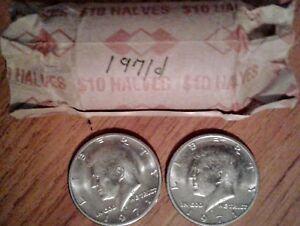 1971 D BANK ROLL  50C KENNEDY HALF DOLLARS   20 COINS