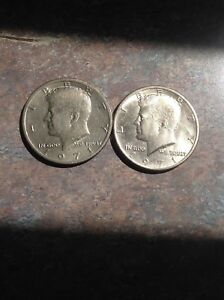 1971 D AND 1971 P KENNEDY HALF DOLLAR