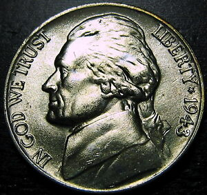 1943 P SILVER JEFFERSON NICKEL     MAKE US AN OFFER   Y8373