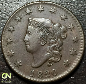 1820/19 CORONET HEAD LARGE CENT N3 R2        MAKE US AN OFFER   O2848