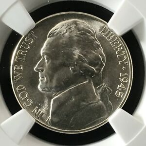 Click now to see the BUY IT NOW Price! 1945 D 5C FS JEFFERSON FIVE CENT NICKEL NGC MS68 5FS         4474330 004
