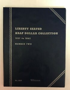 LIBERTY SEATED HALF 2  1851 1862  9036 COIN FOLDER BY WHITMAN  NEW OLD STOCK