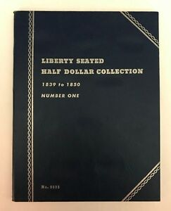 LIBERTY SEATED HALF 1  1839 1850  9035 COIN FOLDER BY WHITMAN  NEW OLD STOCK
