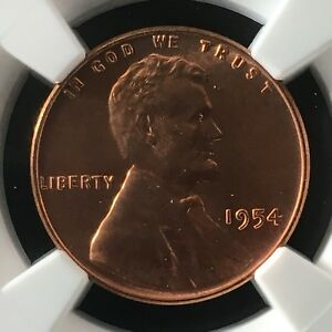 Click now to see the BUY IT NOW Price! 1954 1C RD LINCOLN WHEAT ONE CENT NGC MS67RD                     4474354 014C