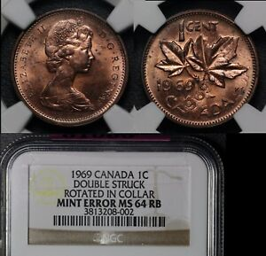 Click now to see the BUY IT NOW Price! ELITE COINS   CANADA ERROR 1C   1969 DOUBLE STRUCK 50 DEGREES   MS64  LX139