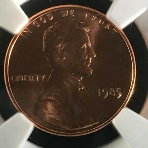 Click now to see the BUY IT NOW Price! 1985 1C RD LINCOLN MEMORIAL ONE CENT NGC MS68 RD        2713529 003C