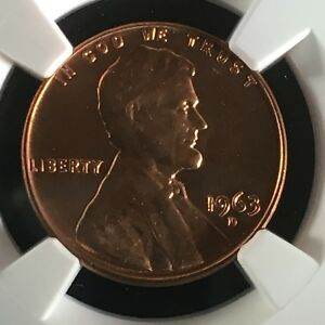 1963 D 1C RD LINCOLN MEMORIAL ONE CENT NGC MS67RD        4320236 001C