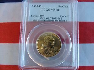 Click now to see the BUY IT NOW Price! 2002 D $1 SACAGAWEA DOLLAR PCGS MS68 POP. 110